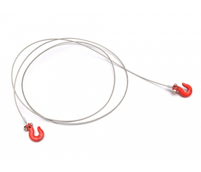 1/10 Scale RC Alloy Winch Hook And Wire Rope (Large)