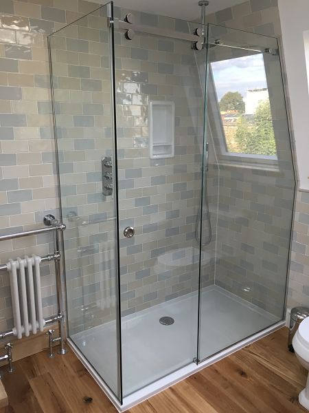 Sliding Showers  Doors  Glass360  Specialist and Bespoke Glass