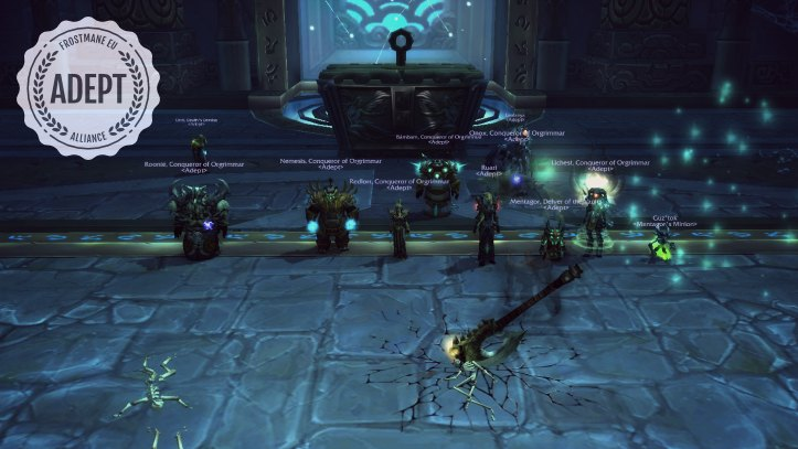 Heroic Sha of Pride kill by Adept's Red Squadron