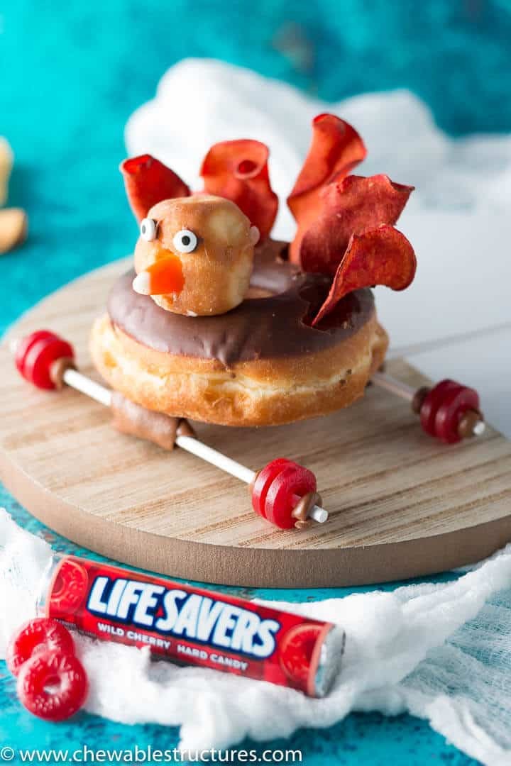 awesome thanksgiving desserts recipes made with turkey donut race car