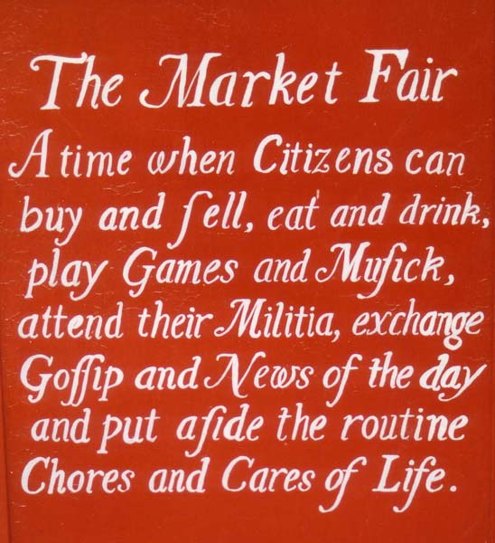 market fair sign