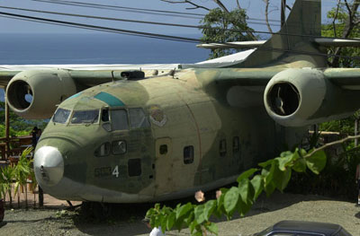 C-123 flown by Barry Seal, converted to a restaurant in Costa Rica
