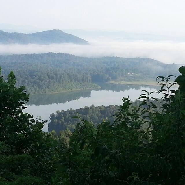 Beautiful mountain lake in North Carolina - Camp Harrison