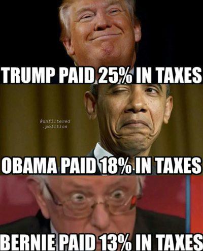 Trump, taxes, Obama, Bernie, Hillary, politics, Liberal