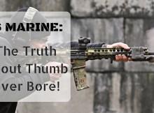 thumb over bore, c clamp grip, AR-15, grip, stance, shooting, AR
