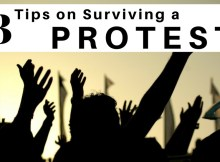 protest, protests, surviving, politics, safety, how to