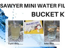 Sawyer, mini, water filter, bucket, kit