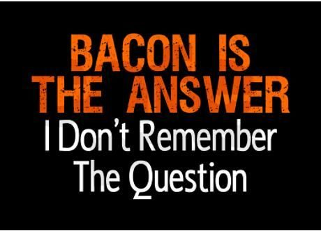 bacon, humor, bacon rules,