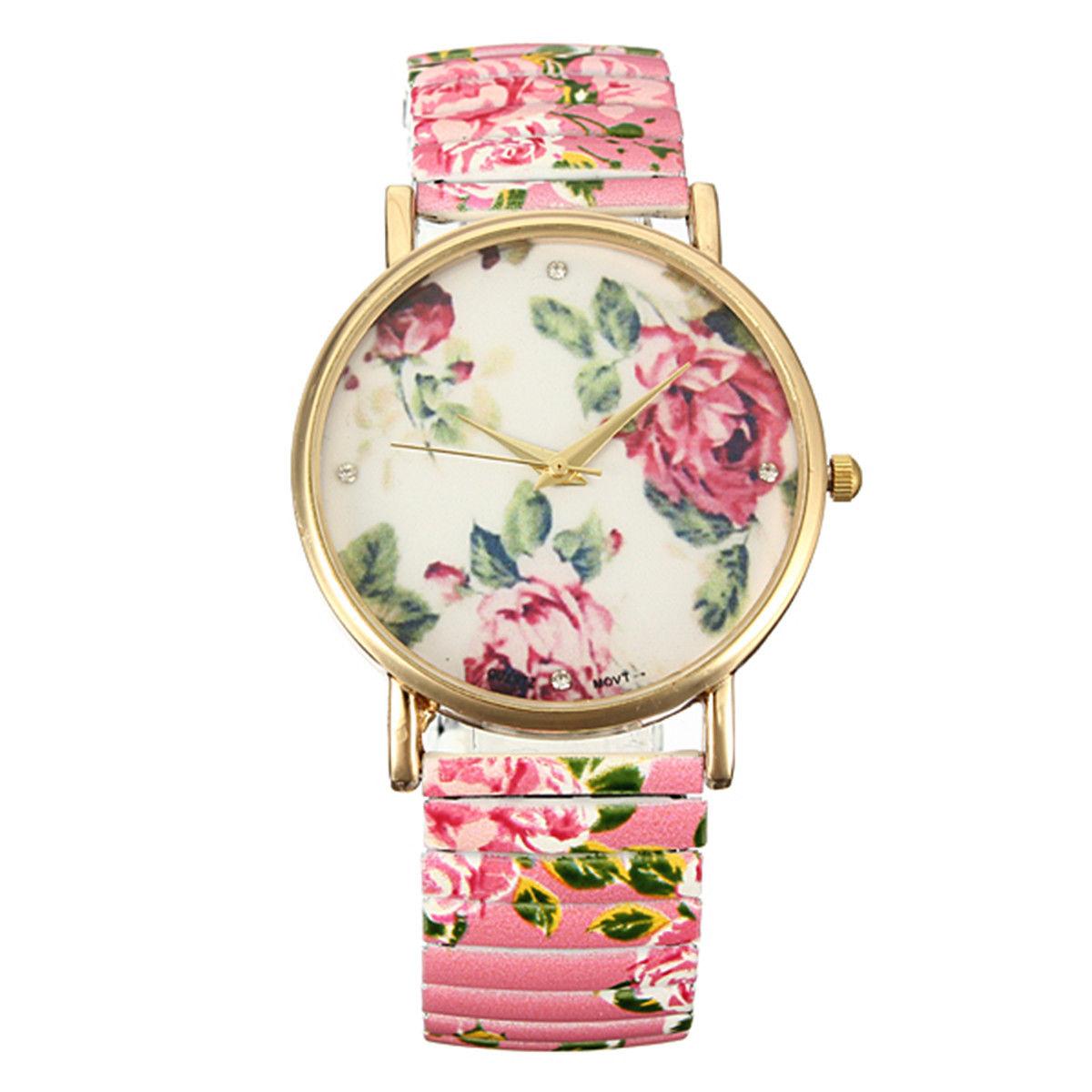 Flower Watch Elastic Band Watch Bracelet Watch Vintage