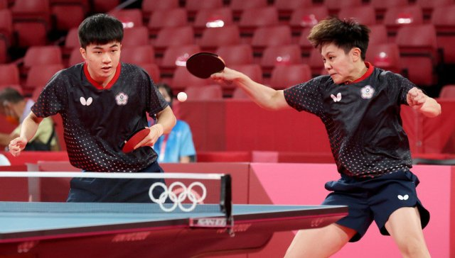 【東京奧運】桌球/黃金混雙快打 林昀儒、鄭怡靜