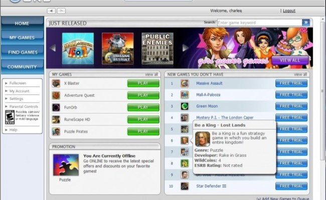 Wildtangent Orb Video Game Download Service Review