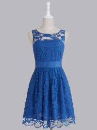 Royal Blue Bridesmaid Dress, Short Bridesmaid Dress, Lace ...