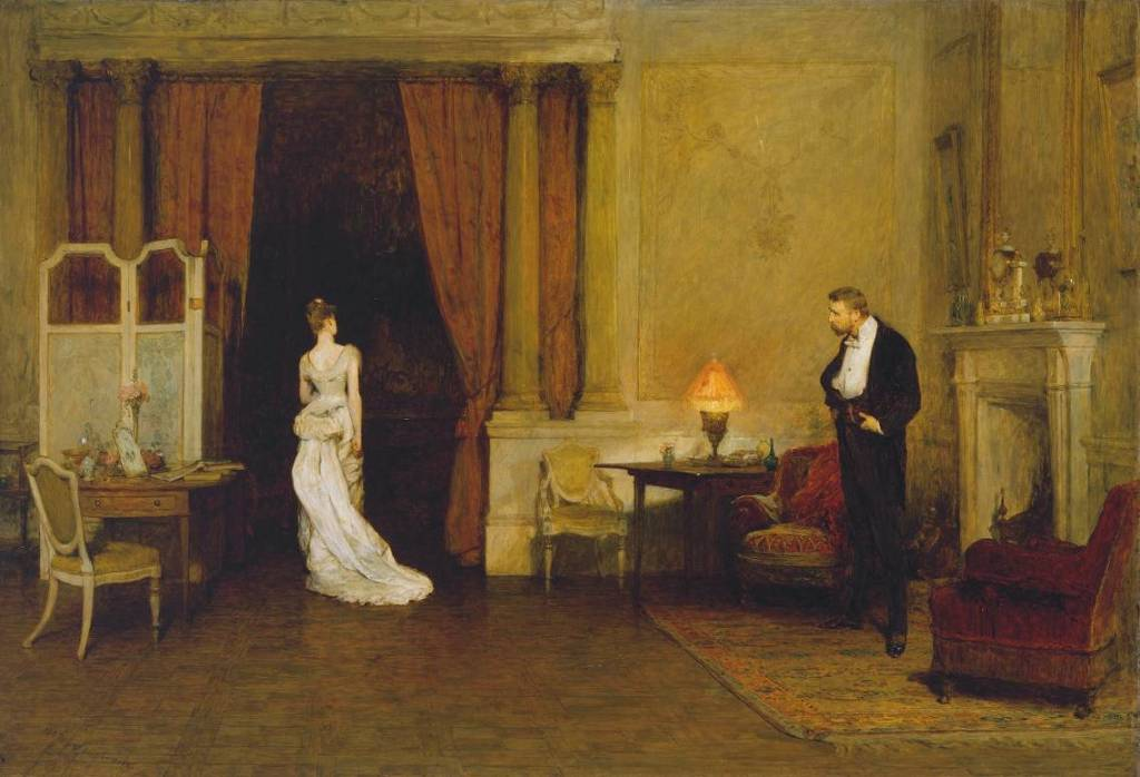 The First Cloud 1887 by Sir William Quiller Orchardson 1832-1910