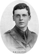 2nd Lt. Robert Calvert. The Times 21/7/1916. Thanks to