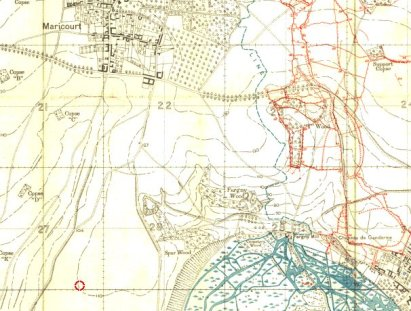 Maricourt South and Fargny Mill Trench Map