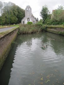 Maricourt Church and pond