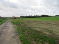 Looking south towards Cambridge Copse from the position of the original British Front line.