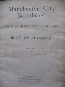 Inside Cover - Book of Honour