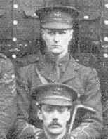 2nd Lt W R Tonge. The 17th Bttn's 1st Officer casualty in the trenches,