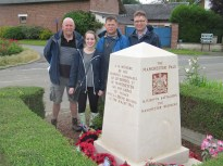 Two Grandsons, a Great nephew and a great grandaughter at the Pals Memorial