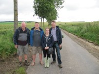 Two Grandsons, a Great nephew and a great grandaughter at the position of Triangle Point 100 years later than Arthur Bell