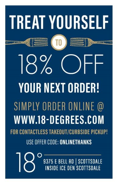 Online order 18% Off 2-up flyer May 2020