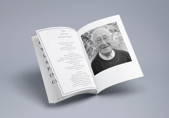 order of service books for funerals