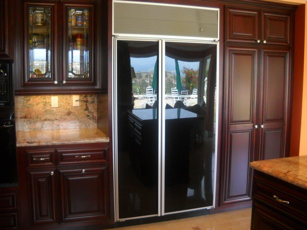 semi custom kitchen cabinets reviews how do you paint with decorative glass cabinet doors ...