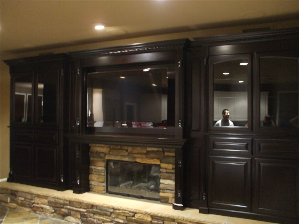 anaheim kitchen cabinets window ideas treatments watch the big game in style with a custom home theater cabinet