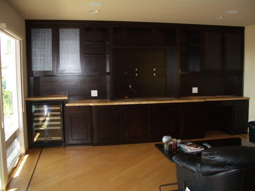 semi custom kitchen cabinets reviews ada sink built in display with mini desk and wine storage ...