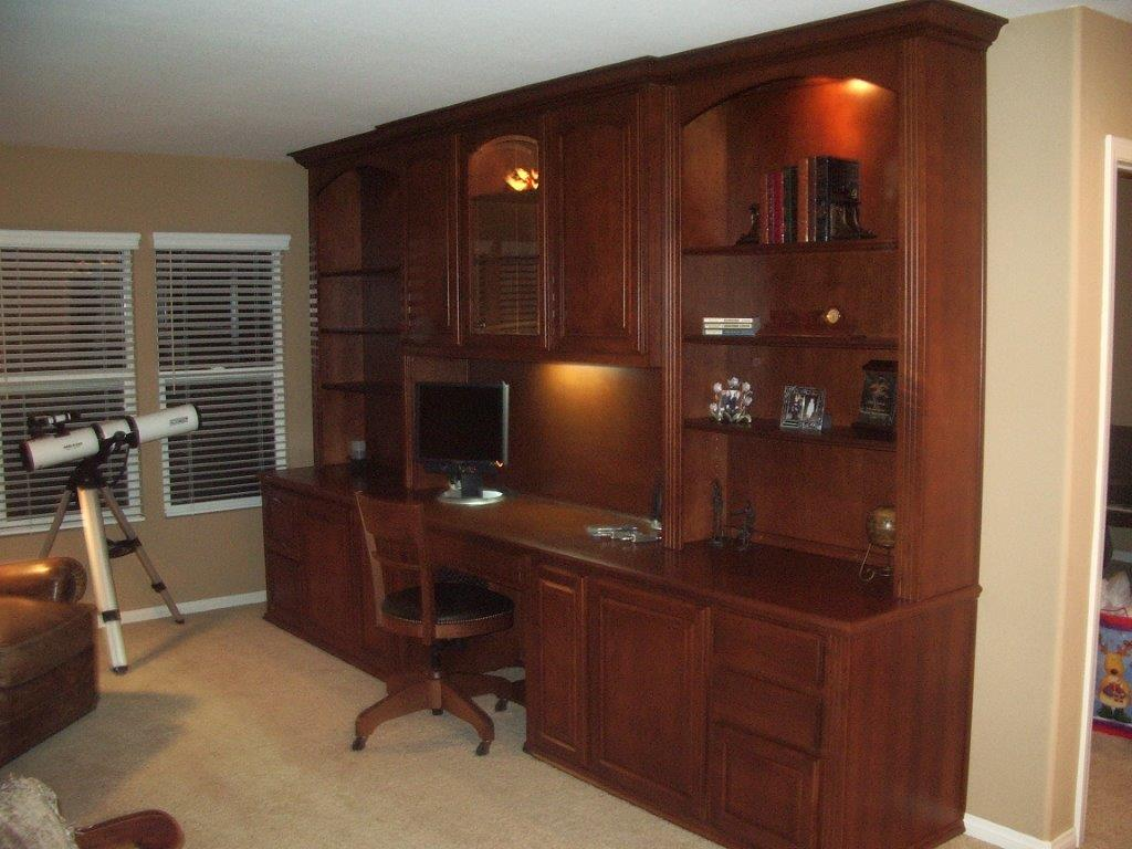 Built In Desk With Upper Cabinets ⋆ Cabinet Wholesalers