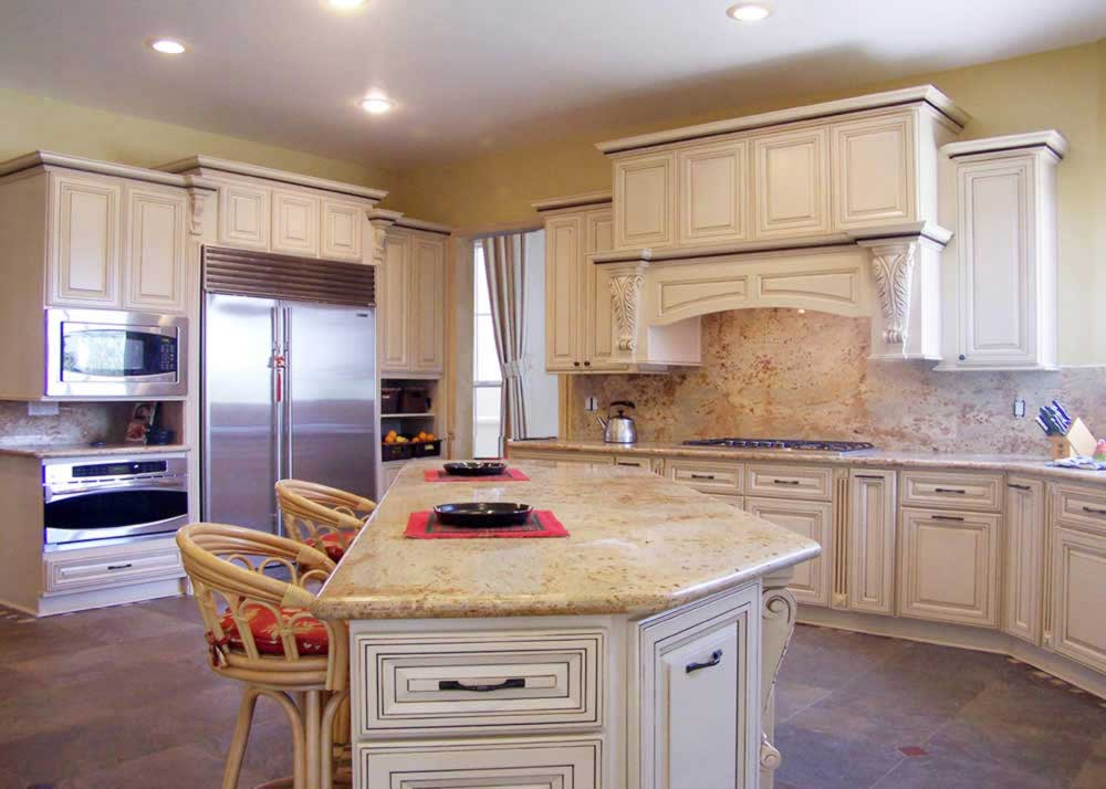 glazed kitchen cabinets non slip shoes white for your remodel