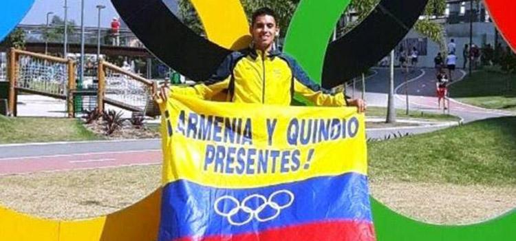 Atleta quindiano en los olimpicos