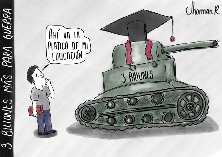caricatura la plata de la educación