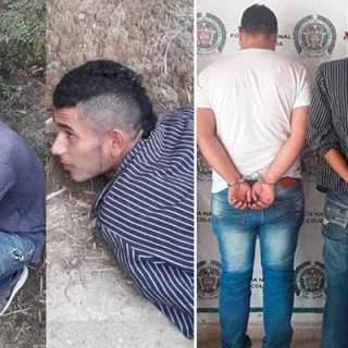 tres sujetos capturados tras robar con armas de fuego en Circasia