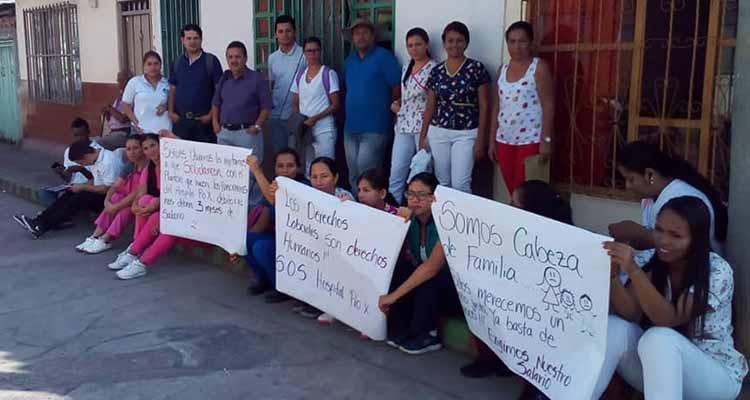 Funcionarios del hospital de La Tebaida en paro porque les adeudan meses de salario