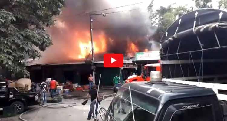 incendio en Mercar Armenia