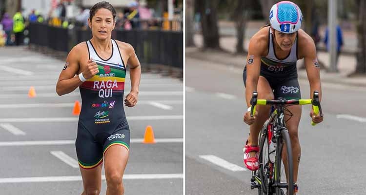 Lina Raga subcampeona en sudamericano de triatlón en Uruguay