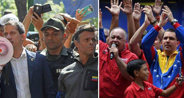 Momentos de tensión en intento de golpe de Estado en Venezuela