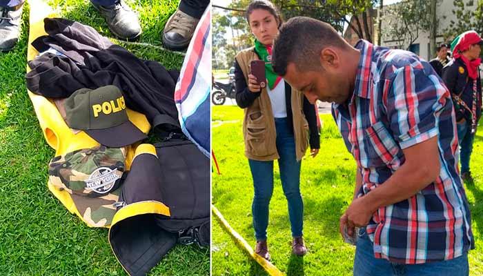 Policía Guardia Indígena infiltrado Nacional Bogotá