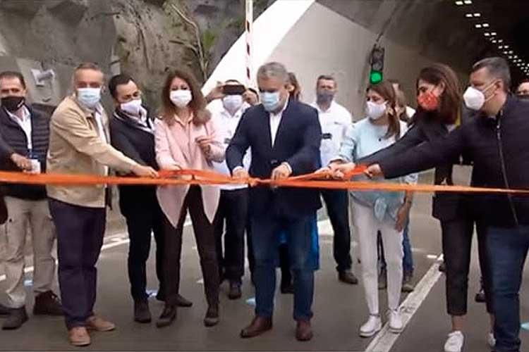 inauguración túnel Covid