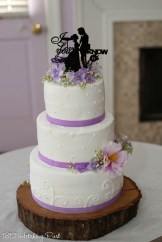 Lilac ribbon with three dessigns