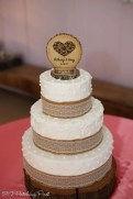 Simple burlap and lace cake