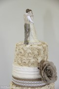 Rustic burlap roses and pearls