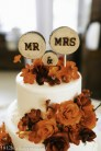 Wood circles cake topper