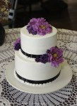 Purple and black on cake