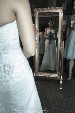 In the mirror before the wedding