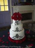 Black fondant with red roses