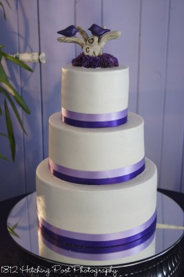 square wedding cake with purple ribbon 140 gorgeous wedding cakes 20438