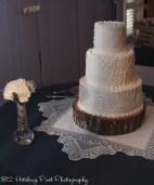 Peacock patterned Wedding cake